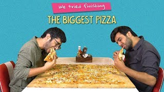 We Tried Finishing The Biggest Pizza | Ok Tested
