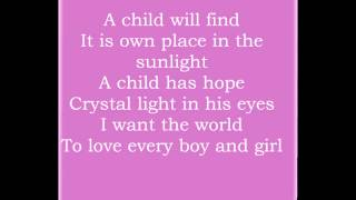 Let the children have a world - Dana Winner lyrics