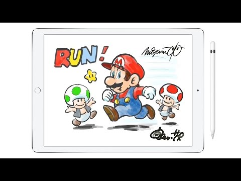 Watch Miyamoto Draw Super Mario On An iPad Pro