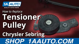 How To Install Replace Engine Belt Idler Pulley 2.7L 2001-06 Chrysler Sebring
