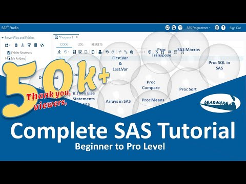 SAS Tutorial for Beginners to Pro Level | The Complete SAS Tutorial | How to Learn SAS Programming
