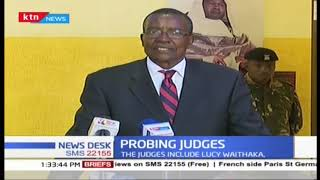 CJ Maraga swears in 7-judge bench to probe conduct of 3 judges