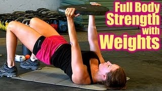 Full Body Workout With Weights, Strength Train, Sculpt & Burn Fat! Home Video Fitness Training