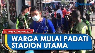 Jelang Penutupan PON XX Papua, Warga Mulai Padati Stadion Utama Lukas Enembe