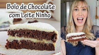 BOLO DE CHOCOLATE COM LEITE NINHO - ChocoNinho I Receitas E Temperos