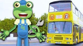 Gecko's Real Vehicles - Trucks, Buses, Excavators, Diggers   Trucks For Kids   Kids Videos