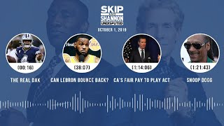 UNDISPUTED Audio Podcast (10.01.19) with Skip Bayless, Shannon Sharpe & Jenny Taft | UNDISPUTED