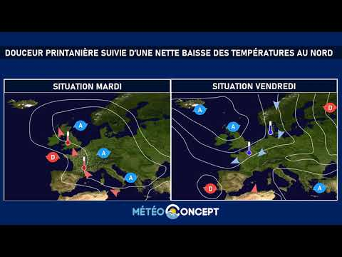 Illustration de l'actualité Douceur printanière avant une forte chute des températures au nord en fin de semaine
