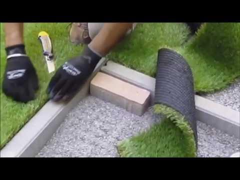 Preparazione e posa erba sintetica
