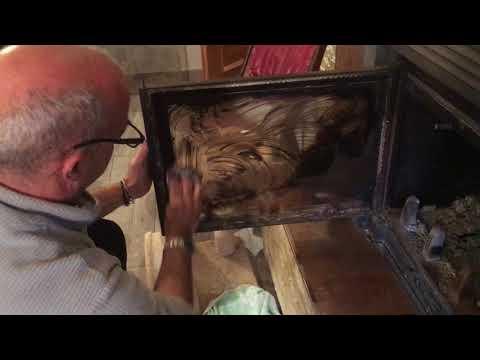 Come pulire il vetro sporco del Camino By Professione Casalingo e sporcare il gatto ;-)