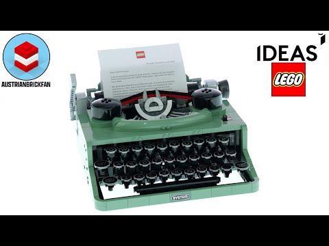 Vidéo LEGO Ideas 21327 : La machine à écrire