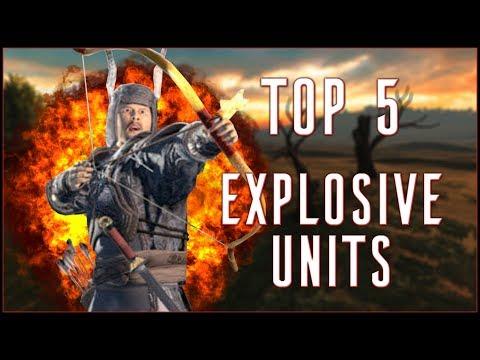 TOP 5 EXPLOSIVE UNITS - Total War: Three Kingdoms!