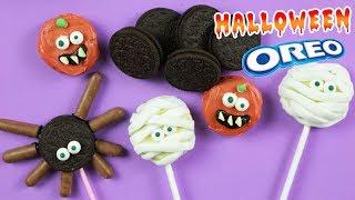 DIY HALLOWEEN OREO POPS ! How To Make Yummy Creepy Desserts By HooplaKidz Recipes