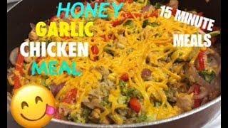 ONE-PAN HONEY GARLIC CHICKEN | DINNER IN 15 MINUTES