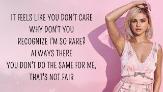 Selena Gomez - Rare (Lyrics)