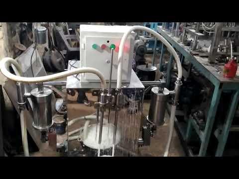 SEMI AUTOMATIC WHITE PHENYL FILLING MACHINE 1L