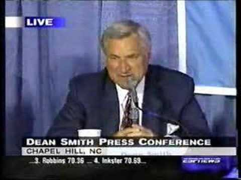 Video: Dean Smith Retirement Press Conference
