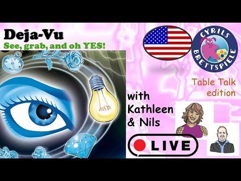 Cyrils Brettspiele - Table Talk LIVE (eng.) - Deja-Vu - TK19