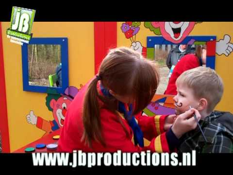Kinderen schminken de Clowns Schminkstand - JB Productions