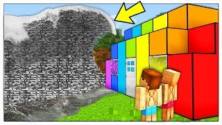 ONDA GIGANTE DI BEDROCK CONTRO BASE DI ARCOBALENI! - Minecraft ITA