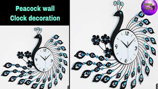 Peacock Wall Clock Decor  diy Projects   Diy Crafts   Wall Art Decor   Fashion Pixies