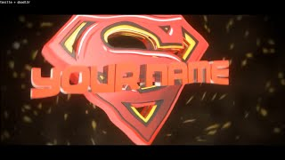 FREE 3D Superman Blender Intro Template #534 + Tutorial