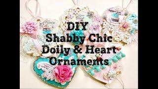 Live, DIY Christmas Ornaments & Decor/Shabby Chic Doily & Heart Ornaments