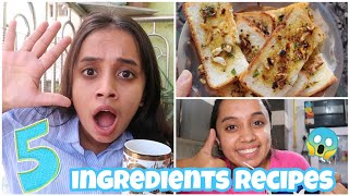 I Made And Ate Only 5 INGREDIENTS Recipes For 24 Hours😱 |gopsvlog