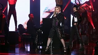Madonna Performs 'Living for Love'