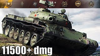 Объект 140 ДАМАГ ЗА ВСЮ КОМАНДУ 11500+ dmg 🌟🌟🌟 World of Tanks лучший бой