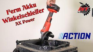 Ferm 20V Akku Winkelschleifer (Flex) für 26,95€ von Action im Test mit überraschendem Ergebnis
