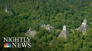 Lasers On Planes Used To Reveal Massive Massive Complex Of Mayan Ruins   NBC Nightly News