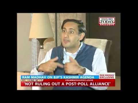 Senior BJP leader Ram Madhav talks about his party's agenda in Kashmir