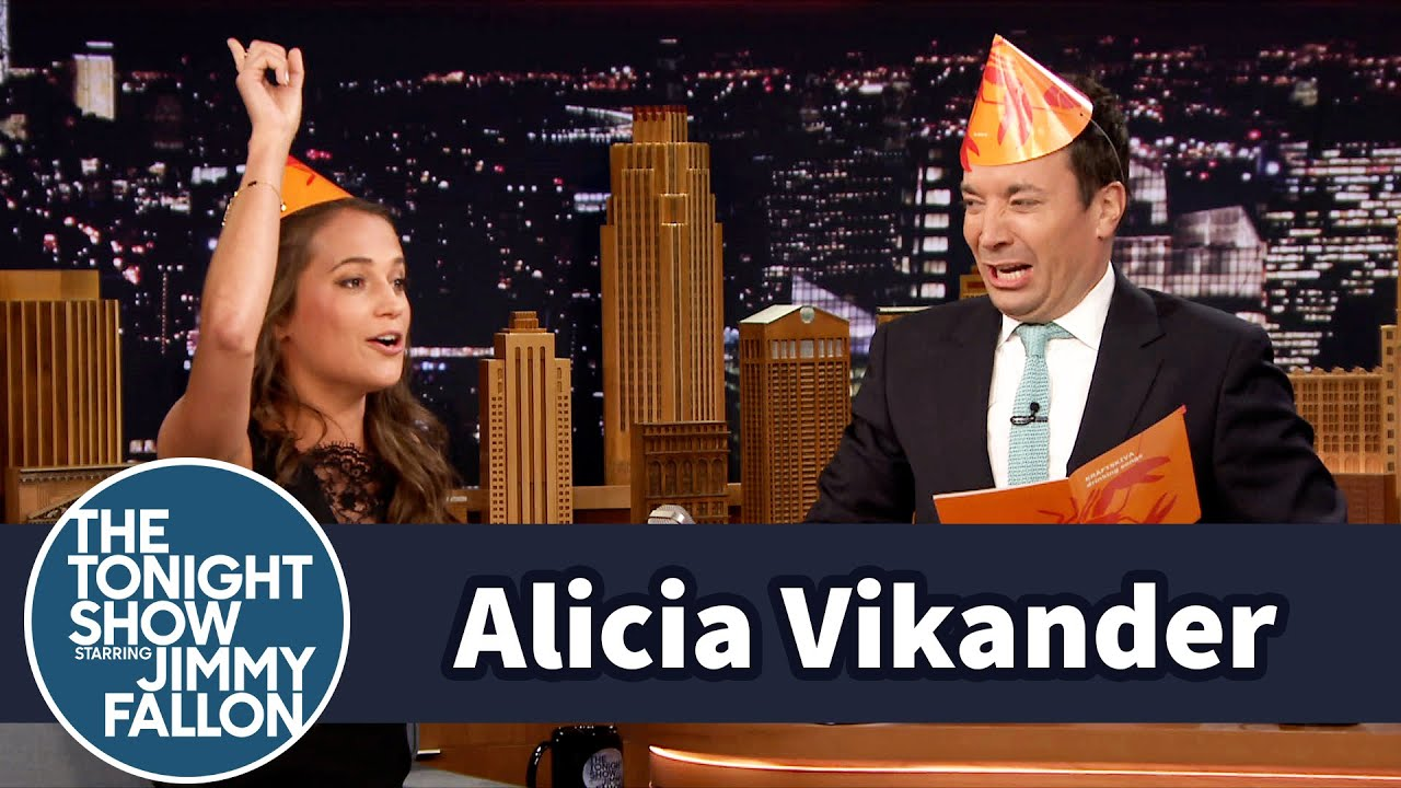 Alicia Vikander Celebrates Sweden's Midsummer Holiday with Jimmy thumbnail