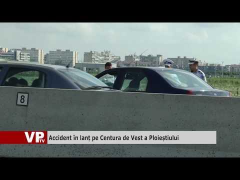 Accident în lanț pe Centura de Vest a Ploieștiului