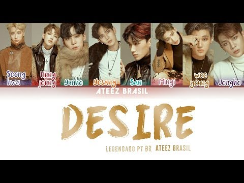 ATEEZ (에이티즈) - 'Desire' LYRICS (Color Coded Lyrics PT/Rom/Han)