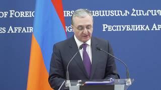 ԱԳ նախարար Զոհրաբ Մնացականյանի խոսքը և պատասխանը լրագրողների հարցերին Ռուսաստանի ԱԳ նախարար Սերգեյ Լավրովի հետ համատեղ մամուլի ասուլիսին