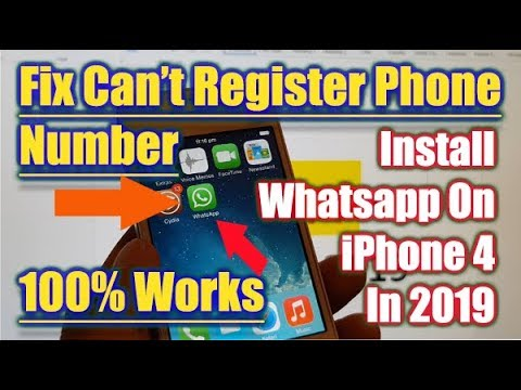 FIXED: Whatsapp Can't Register With This Phone Number on iPhone 4 in 2019