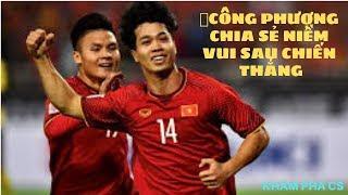 Asean cup 2019: Công phượng chia sẻ niềm vui sau chiến thắng Jordan
