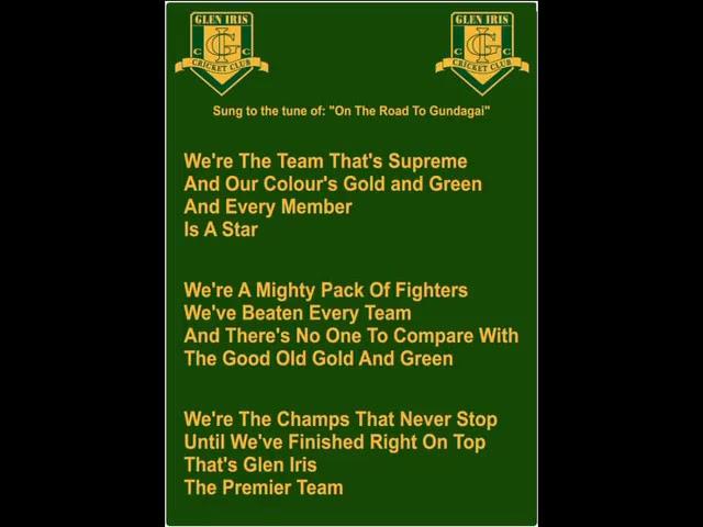 Glen Iris Cricket Club - Club Song