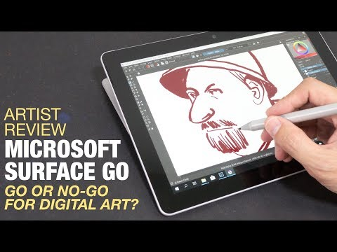 Artist Review: Microsoft Surface Go (or No-Go?)