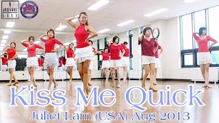 Kiss Me Quick Line Dance Demo(Absolute Beginner)