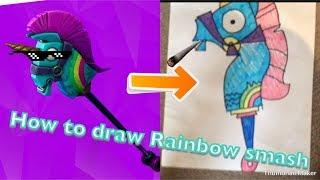 How To Draw Fortnite Pickaxe Rainbow Smash म फ त ऑनल इन
