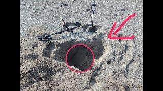 """Incredibile ORO gold e Monete """"GRANDE""""quest q 40 metal detector ricerca in spiaggia"""