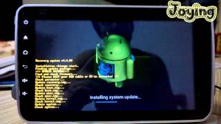How to update or upgrate android version for Joying android