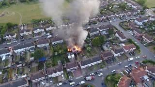 26/05/20 FIRE OVER WHITTON. DJI PHANTOM DRONE IPSWICH SUFFOLK