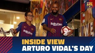 [BEHIND THE SCENES] Arturo Vidal's First 24 Hours In Barcelona