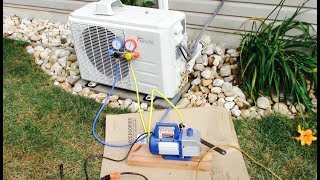 Mini Split A/C Full Installation Full Video