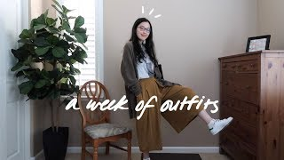 A Week Of Outfits In College 🌿 Spring