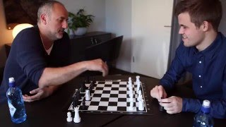 "Magnus Carlsen vs. Espen Agdestein in ""Alternating Bishops / Knights Chess"""